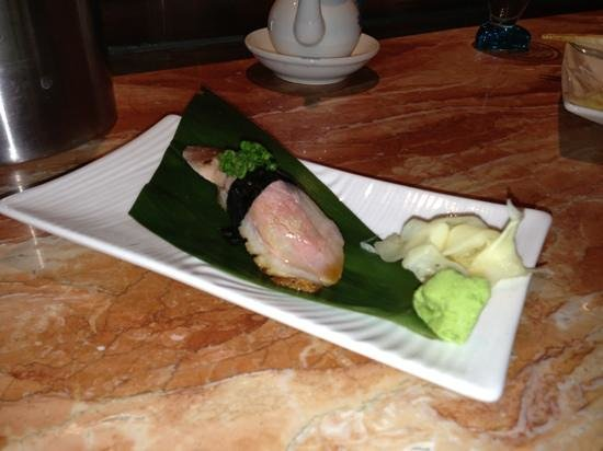 Ai Sushi Lounge :                   cherry smoked duck nigiri... Amazing!!!