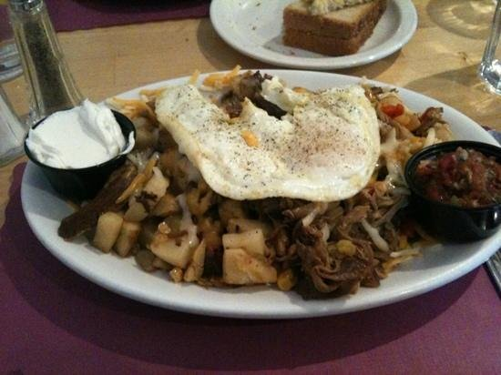 Charlotte's Bakery, Cafe, Espresso:                   Pork hash breakfast