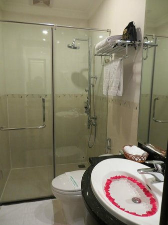 Hanoi Meracus Hotel 1:                   bathroom(no bathtub)