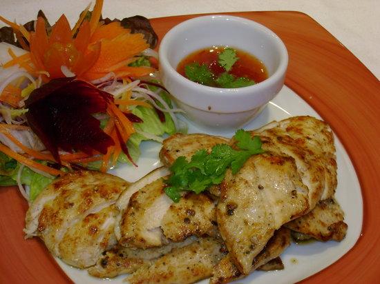Thai Garden: gai yang (grilled chicken)