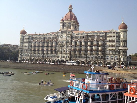 The Taj Mahal Palace:                                     front view Palace wing from Gateway to India