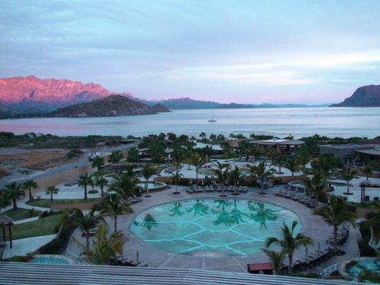 Villa del Palmar Beach Resort & Spa at The Islands of Loreto:                                     Sunrise on the mountains
