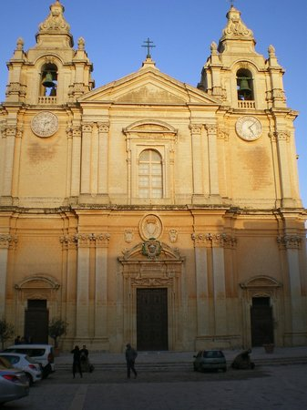 Bugibba, Malta: a church in Mdena