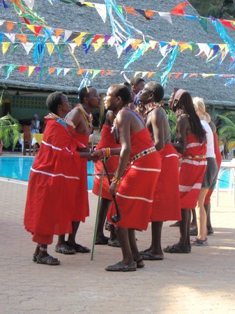Turtle Bay Beach Club:                   Masai dancers