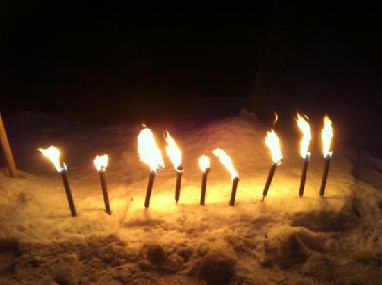 Hotel Schmelzhof:                   walking with torches