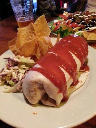 Black Cat Burrito: white trash bbq burrito