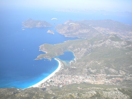 Club Belcekiz Beach Hotel:                   View whilst paragliding