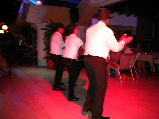 Club Belcekiz Beach Hotel:                   Staff dancing to Cotton Eye Joe