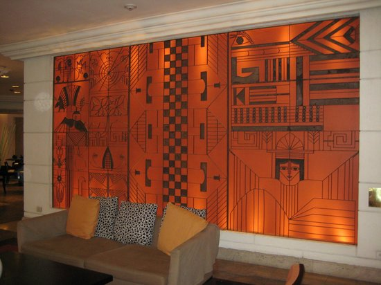 Real InterContinental San Salvador at Metrocentro Mall :                   Hotel Lobby--Original Art Work