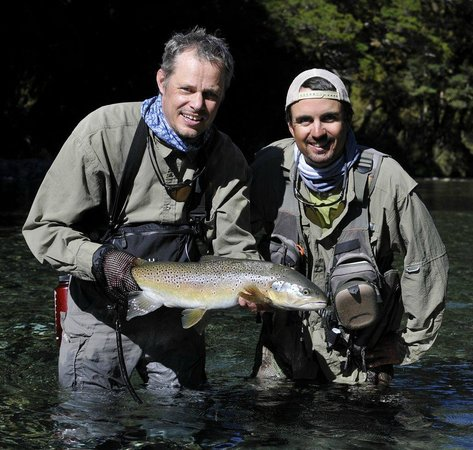 Southern Rivers Fly Fishing:                                     Gunnar and Jake(to the right)