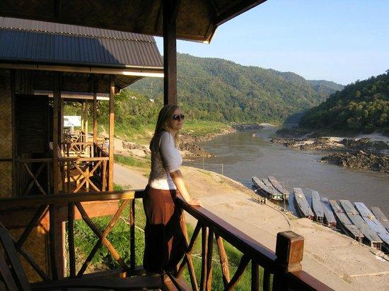 Mekong Riverside Lodge:                   View from terrace