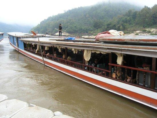 Mekong Riverside Lodge:                   Boat to Luang Prabang