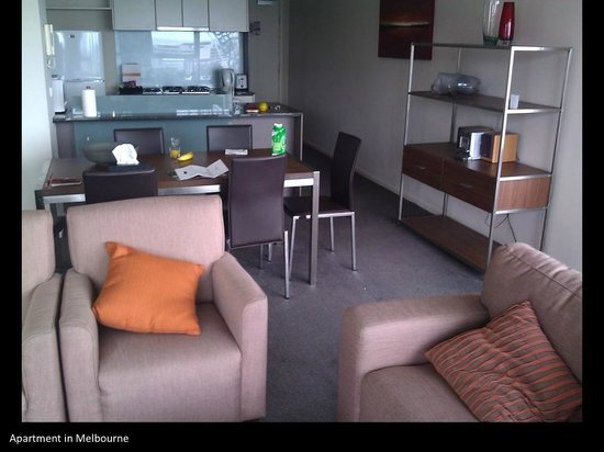 Melbourne Short Stay Apartments Southbank Collection:                                     Living area