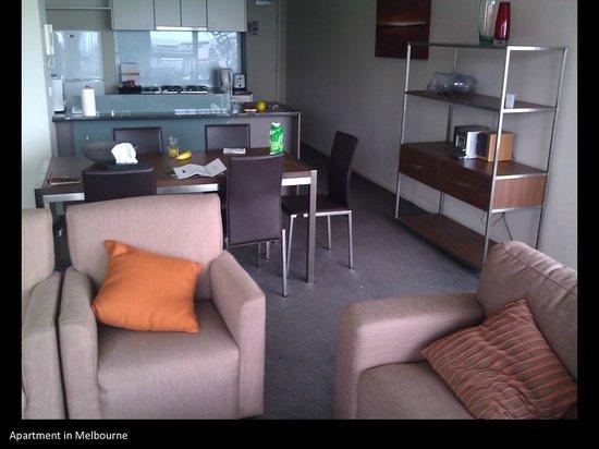 อพาร์ทเมนท์สเมลเบอร์นช็อตสเตย์:                                     Living area