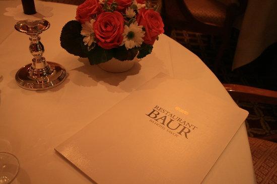 Restaurant Baur menu