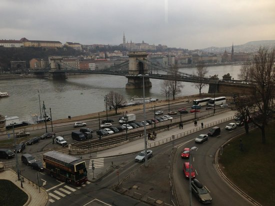 Sofitel Budapest Chain Bridge: View from room 522 by day