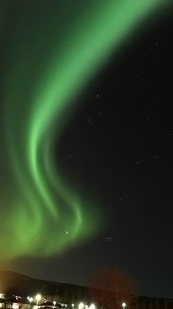 Hotel Ork: Northern Lights from the hotel