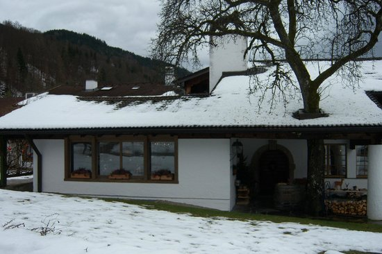 Berghotel Rehlegg:                   Eingang zum Restaurant