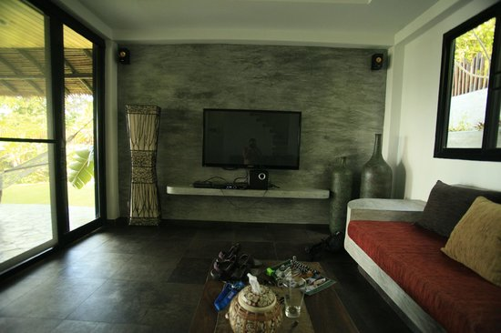 Living Room With Huge Tv Picture Of Koh Tao Heights Boutique Villas Koh Tao Tripadvisor