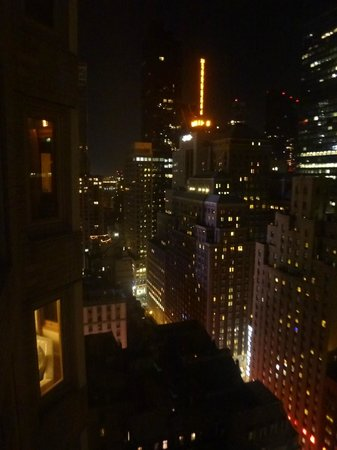 The London NYC:                   View from the room at night