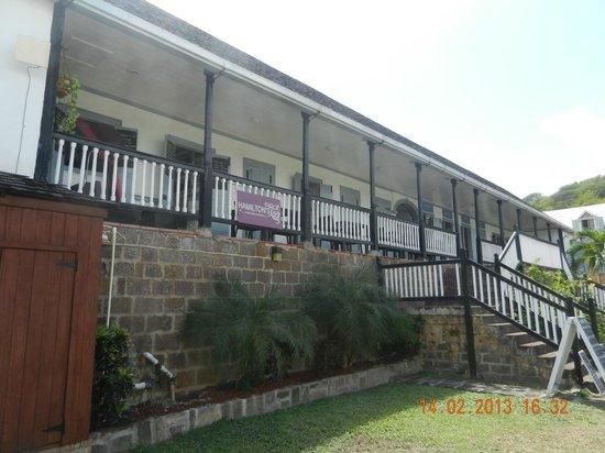 Hamilton's Wine Bar and Bistro:                   Rear balcony