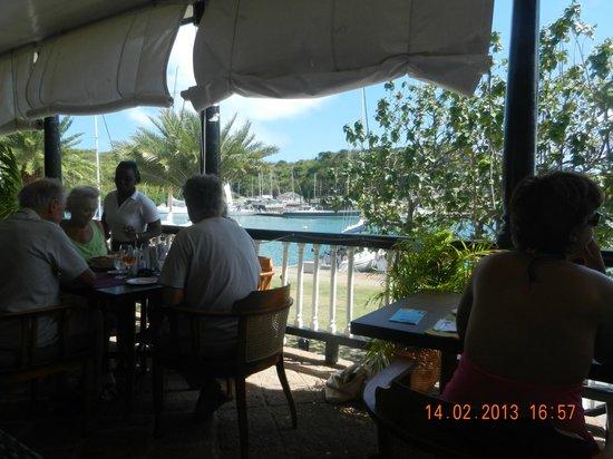 Hamilton's Wine Bar and Bistro:                   Harbour view