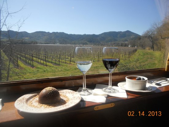 Napa Valley Wine Train:                   Dessert with a view!