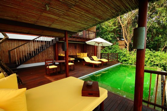 Six Senses Samui:                   Our private deck and pool villa 56