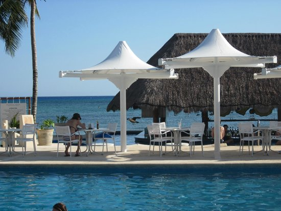Omni Beach :                   By the pool at Omni Hotel