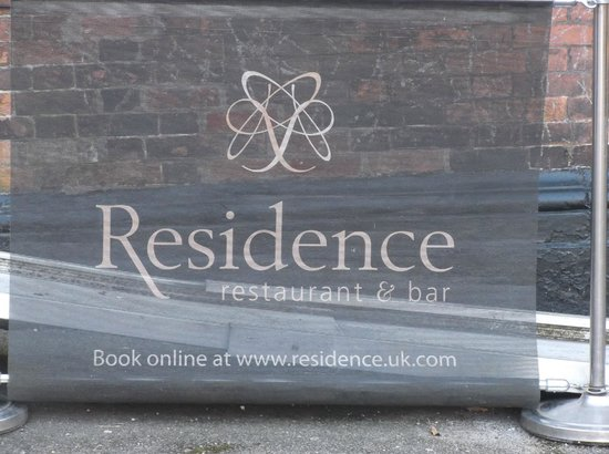 Residence Restaurant and Bar:                                     the sign--and wheelchair ramp