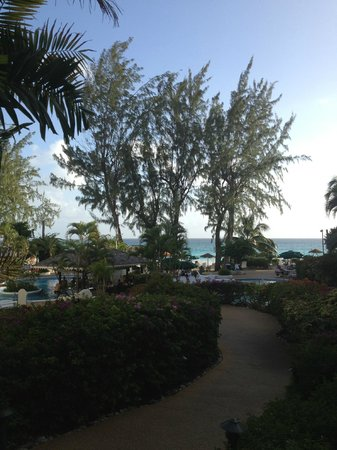 Bougainvillea Beach Resort:                   Path down to the pool, bar, restaurant and beach from the lobby