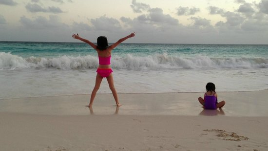 Bougainvillea Beach Resort:                   Kids on the beach at dusk