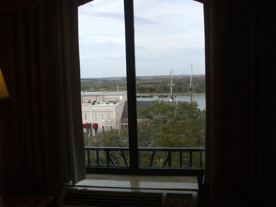 Inn at Ellis Square: View of river from 4th floor over Bay St.