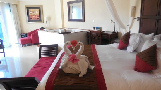 The Royal Playa del Carmen:                   They made special towel arrangements for us every day!