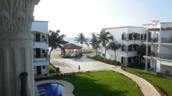 The Royal Playa del Carmen:                   View from our 4th floor suite