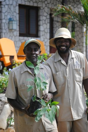 Tensing Pen Resort:                   niney and one of the many wonderful guys who maintain the grounds