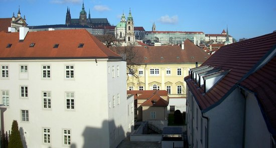 Mandarin Oriental, Prague:                   Morning view from Premier Castle View Room
