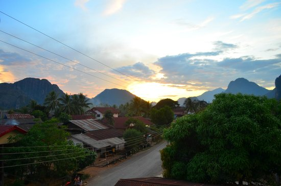Laos Haven Hotel: Stunning view from the hotel balcony