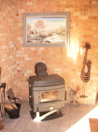 Cedar Pointe B and B:                   Beautiful wood burning stove