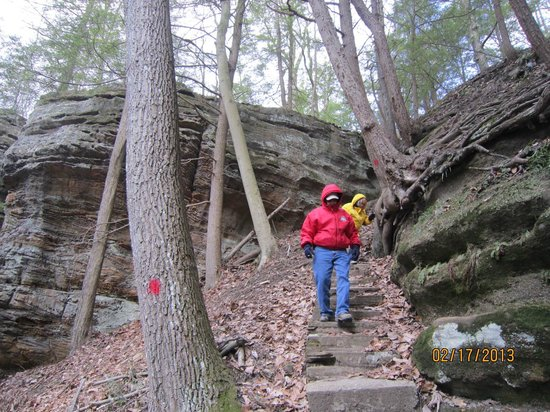 Cantwell Cliffs:                   Very steep steps!
