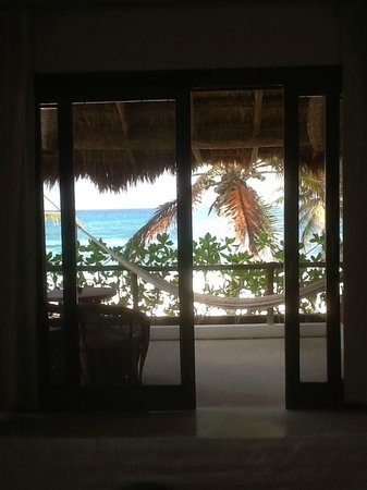 Hotel Cabanas Tulum:                   view from room