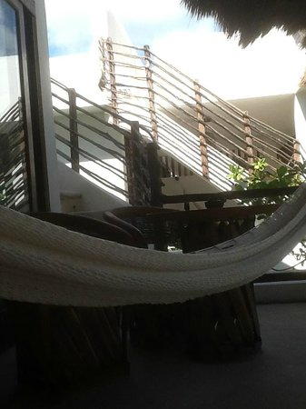 Cabanas Tulum:                   hammock on balcony