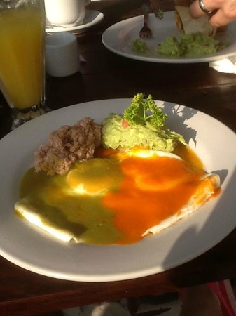 Hotel Cabanas Tulum:                   divorced eggs with tuna and guac