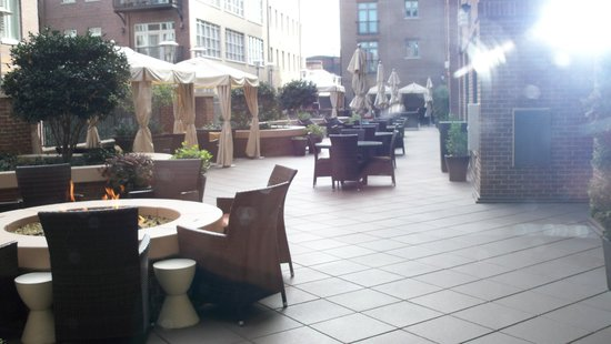 Andaz Savannah:                   The terrace area