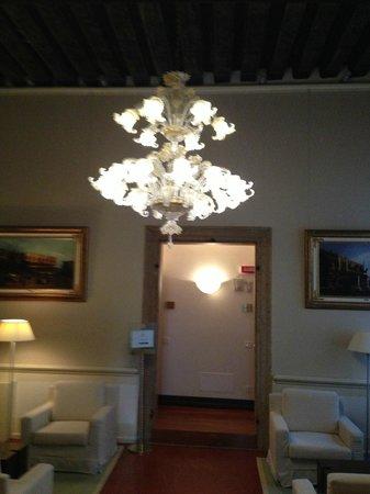 Hotel Palazzo Giovanelli:                   Murano Chandeller in Common Area