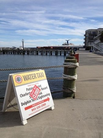 Charleston Water Taxi: see---closed on a beautiful day