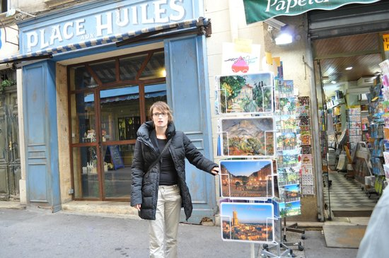 Tour Designer in Provence Private Tours:                                     Our wonderful guide, Marjoliene, points out the cliffs paint