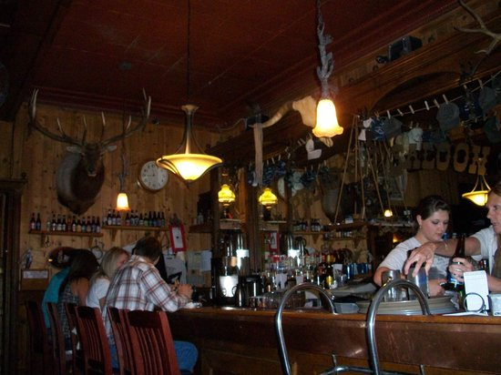 View of the bar at Proud Cut Saloon