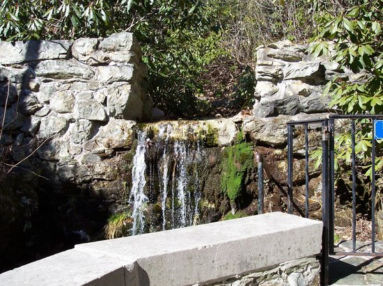 National Shrine Grotto of Lourdes:                   falls by the grotto