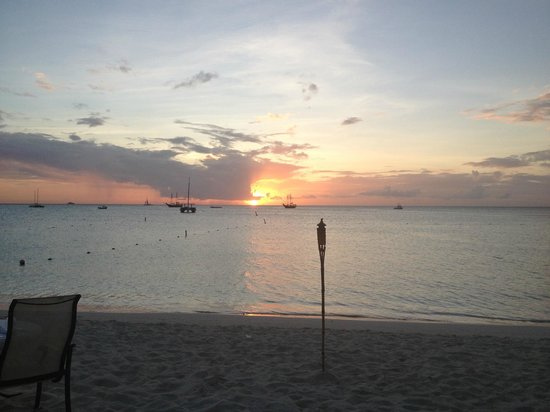 Aruba Marriott Resort & Stellaris Casino:                   Sunset at Simply Fish